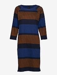 Nanso - Ladies dress, Puomi - midi kjoler - blue - 0