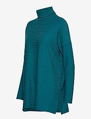 Nanso - Ladies tunic, Rib - poolopaidat - petrol - 2
