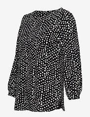 Nanso - Ladies blouse, Dippi - pitkähihaiset t-paidat - black - 2