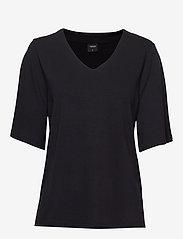 Nanso - Ladies blouse, Aava - t-shirts - black - 0