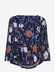 Nanso - Ladies blouse, Iiris - bluzki z długimi rękawami - dark blue - 0