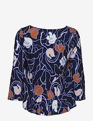 Nanso - Ladies blouse, Iiris - long sleeved blouses - dark blue - 1