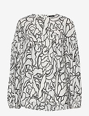 Nanso - Ladies blouse, Pikku Iiris - bluzki z długimi rękawami - black-white - 0