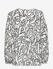 Nanso - Ladies blouse, Pikku Iiris - long sleeved blouses - black-white - 1