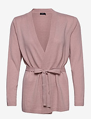 Nanso - Ladies knit cardigan, Villis - gilets - beige - 0