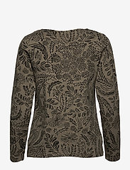Nanso - Ladies blouse, Floora - pitkähihaiset t-paidat - olive green - 1