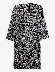 Nanso - Ladies dress, Runotar - sukienki do kolan i midi - black and white - 0