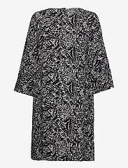 Nanso - Ladies dress, Runotar - midi jurken - black and white - 1