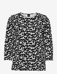 Nanso - Ladies blouse, Liito - långärmade blusar - black-white - 0