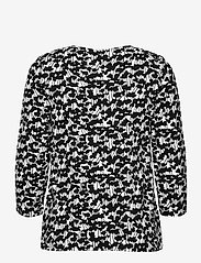 Nanso - Ladies blouse, Liito - långärmade blusar - black-white - 1
