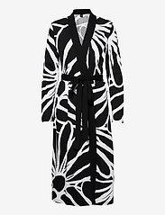Nanso - Ladies dressing gown, Päivänkakkara - pegnoirs - black - 0