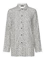 Ladies shirt, Vinoruutu - WHITE
