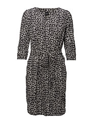 Ladies dress, Vino - BLACK