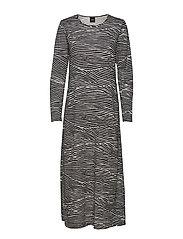 Ladies long nightgown, Vuoristo - BLACK