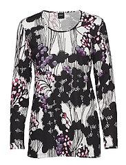Ladies pyjamas, Kirjokerttu - BLACK