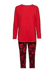 Ladies pyjamas, Sydän - RED