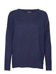 Ladies knit sweater, Villis - DARK BLUE