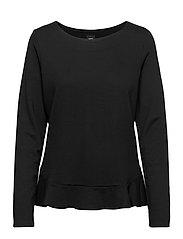 Ladies blouse, Minne - BLACK