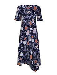Ladies dress, Iiris - DARK BLUE