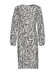Ladies dress, Pikku Iiris - BLACK-WHITE