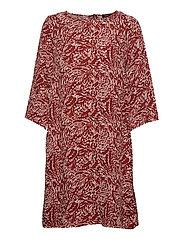 Ladies dress, Runotar - RUSTY BROWN
