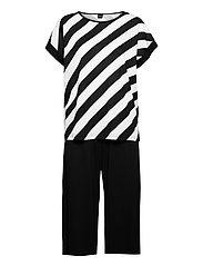 Ladies pyjamas, Kulma - BLACK AND WHITE