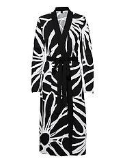 Ladies dressing gown, Päivänkakkara - BLACK
