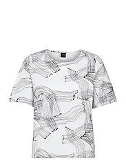 Ladies t-shirt, Narunen - BLACK-WHITE