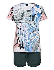 Ladies shorts pyjamas, Tropiikki - MULTI-COLOURED