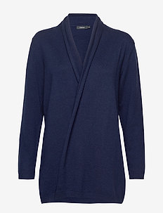 Ladies knit cardigan, Villis - DARK BLUE