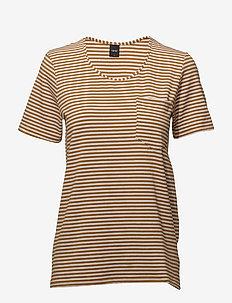 Ladies t-shirt, Liitu - ORANGE/WHITE