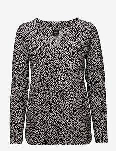Ladies shirt, Sesam - BLACK