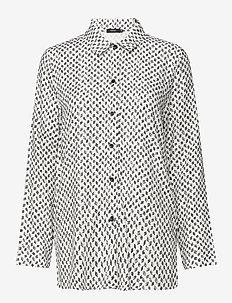 Ladies shirt, Vinoruutu - overhemden met lange mouwen - white