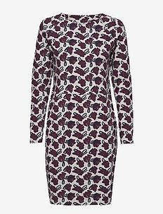 Ladies dress, Asteri - BURGUNDY