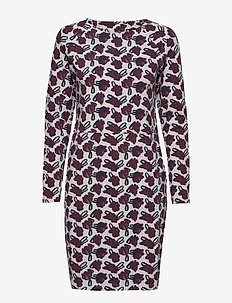 Ladies dress, Asteri - midimekot - burgundy