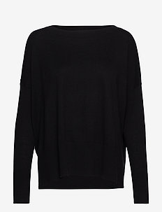 Ladies knit sweater, Villis - BLACK