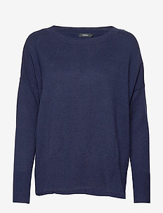 Ladies knit sweater, Villis - pulls - dark blue