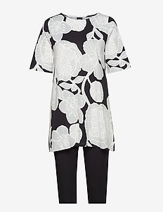 Ladies pyjamas, Viivi - BLACK