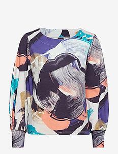 Ladies shirt, Orvokki - MULTICOLOURED