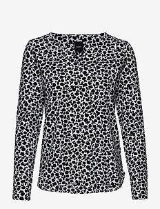 Ladies shirt, Kashmir - BLACK