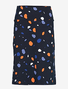 Ladies skirt, Pyörre - midi rokken - blue