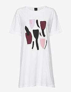 Ladies big shirt, Laventeli - WHITE