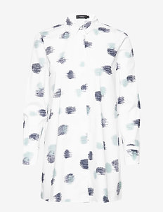 Ladies shirt, Kastanja - overhemden met lange mouwen - white