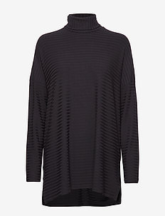 Ladies tunic, Rib - BLACK