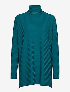 Ladies tunic, Rib - PETROL