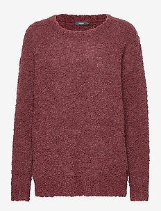 Ladies knit sweater, Naava - BURGUNDY