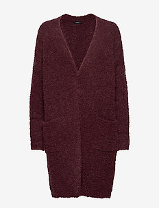 Ladies knit cardigan, Naava - BURGUNDY