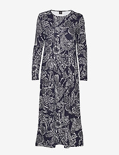 Ladies long nightgown, Hilkka - DARK BLUE