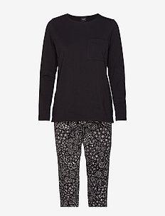 Ladies pyjamas, Kosmos - BLACK