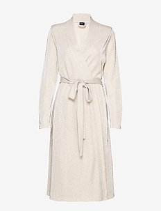 Ladies' dressing gown, Tuike - LIGHT BEIGE
